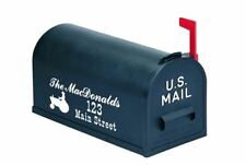 Custom Rural Mailbox Vinyl Lettering Decal Personalized - tractor