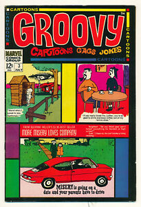 Marvel Atlas Comics Groovy Issue #3 Comic Book Jokes Cartoons VF- 7.5 1968