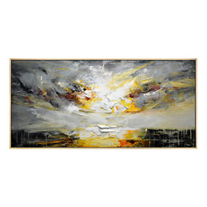 YA220 CANVAS ART HAND-PAINTED ABSTRACT SCENERY KNIFE OIL PAINTING DAWN
