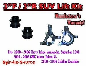"2000 - 2006 Chevrolet GMC 1500  3"" / 3"" Lift Kit Spindles Spacer SUV 00-06 Chevy"