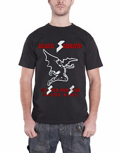 Black Sabbath T Shirt Sold Our Soul Demon Band Logo Official Mens New Black