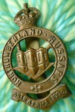 WW1 Northumberland Hussars Cap Badge KC All BRASS Slider SUPER Antique ORIGINAL