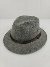 VTG Genuine C.C. Filson XXL 100% Virgin Wool Lined Fedora Packer Hat Gray EUC++