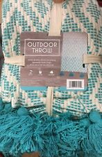 """Cotton Outdoor Throw Cover Blanket 50""""X60"""" Beach Camping Picnics Turquoise New"""