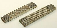 """Lot of 2 Vintage Wooden Folding Rules 6' 72"""" Stanley Fulton Carpenter Tool USA"""