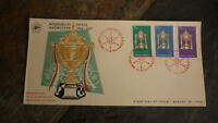 OLD INDONESIA STAMP ISSUE FDC, 1964 BADMINTON TOURNAMENT SET OF 3 STAMPS