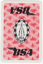 Playing Cards 1 Swap Card - Vintage BSA Motorbike Motorcycle Bicycle RIFLE AD 2