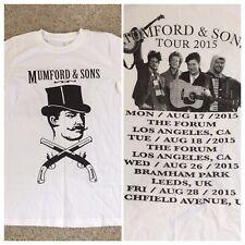 Mumford & Sons 2015 Concert Tour Dates Mens White T Shirt XL Hard to Find Design