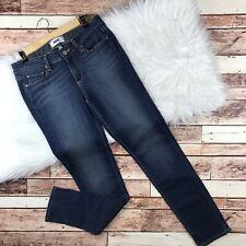 paige skyline skinny jeans womens size 28 in easton dark wash