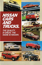 1987 NISSAN Brochure/Pamphlet:SENTRA,PULSAR,MAXIMA,200-SX,300ZX,PickUp Truck,NX,