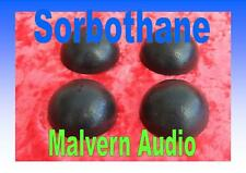 A Set of 12 x 19 mm. Diameter Sorbothane Isolation Feet. Improve Hi-Fi Sound
