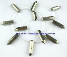 Natural 8x14-8x28mm Rocket Pyrite Graduated Genstone Beads 15''