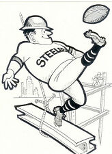 PITTSBURGH STEELERS  8X10 TEAM PHOTO CARD MASCOT  FOOTBALL NFL AFL