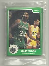 1984-85 Star Company Dallas Mavericks Factory Sealed 11-card Team Set M Aguirre