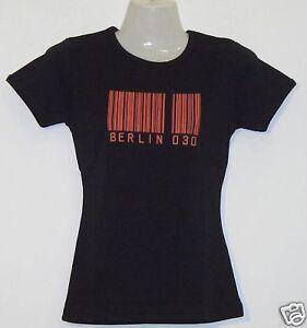 Girlie T-Shirt * Berlin 030 Schwarz S - XXL