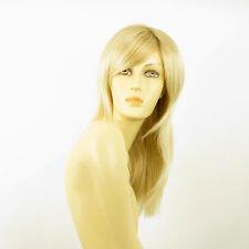 Perruque femme mi-longue blond doré méché blond très clair  GIULIA 24BT613