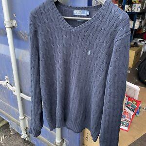 polo ralph lauren jumper - Size XL - Navy Blue
