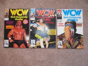 # 1 , 2 and 3 WCW Wrestling Marvel Comics Books