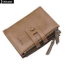 Baellerry D3206 PU Men Wallet Short Purse Coin Pocket Vintage Card Holder Khaki
