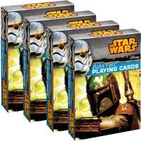 4 Deck Set Boba Fett Playing Cards By Cartamundi Fun Star Wars Themed Collectors