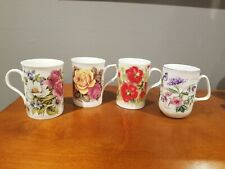 Rose of England & Other Brand Bone China Coffee Mugs Set of 4 Made in England