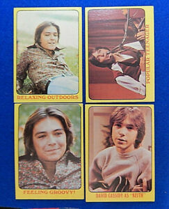 4 PARTRIDGE FAMILY David Cassidy Topps Trading Cards 1971 Yellow Border Lot 💎
