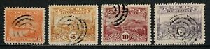 Costa Rica 1907 Telegraph Stamps Fiscal Revenue Ship Locomotive Lot of 4 Used