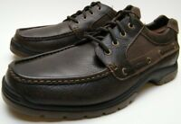 MENS SPERRY TOP SIDER MOC 0777402 TOE BROWN LEATHER LACE UP BOAT SHOES SZ 13 M