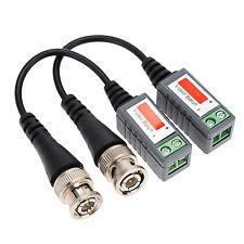 1Pair (2pcs) Passive BNC CAT5 Video Balun Transceiver Cable CCTV Camera to DVR