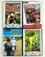 4x PC CD Video Game Bundle Horse Riding, Racing Boys & Girls Children's Games