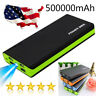 Fast Charging Phone Charger 4 USB Power Bank 500000mAh LED External Battery Pack