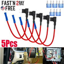 5Pack 12V 20 Amp Car Add-a-circuit Fuse TAP Adapter Kit, Mini ATM APM Blade Fuse