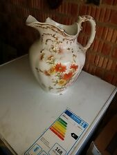 Antique Maling Jug early Red CTM mark beautiful hand painted