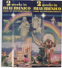 1930s New Mexico Promotional Brochure with Nice Native American Cover Graphics