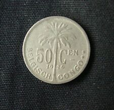 Munt Congo Belge/Belgisch Congo: 50 CENTIMES 1926 (vlaamse legende)