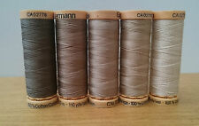 Gutermann Natural Cotton Sewing Thread 100m set of 5 - N7 - Browns (3)