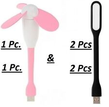 Combo of USB FAN + 2 Usb LED with Flexible design Light Removable Blades