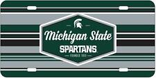 Michigan State Spartans License Plate Acrylic Authentic New In Retail Packaging