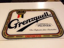 Vintage Grenzquell German Pilsner Plexiglass Bar Sign - Olympia Imports -Hamburg