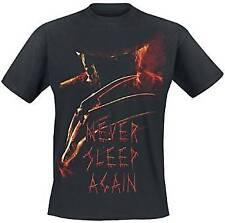 Nightmare On Elm Street - Never Sleep Again Poster Black T-Shirt Unisex Tg. S