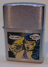ZIPPO LIGHTER BETTY PAGE PIN UP GIRL UNRELASED TEST SAMPLE 1998 ROCKETTER COMIC