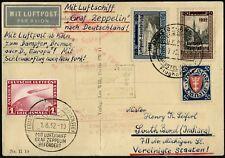 Zeppelin Danzig 1932 LUPOSTA Langfuhr Schleuderflug Bremen USA Si 170 B / 666