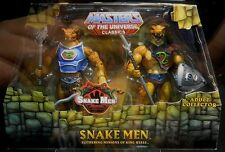 """MASTERS OF THE UNIVERSE Classics_SNAKE MEN 6"""" figs_Exclusive Limited Edition_MIP"""