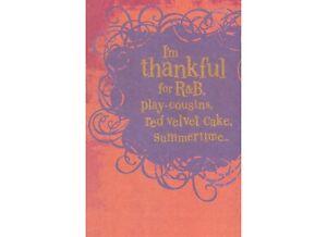 AG Thank You Card: Thankful For R&B Red Velvet Cake Summertime & Especially You!