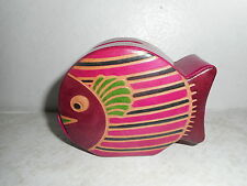Embossed Genuine Leather Fish Still Coin Bank