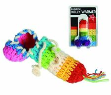 KNITTED RAINBOW WILLY WARMER NAUGHTY RUDE ADULT JOKE NOVELTY GIFT GAY LGBT