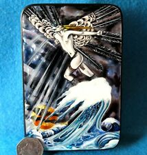 Russian LACQUER SHELL Box Kay Nielsen illustration North Wind Went Over the Sea
