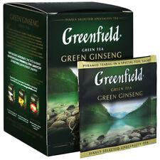 Greenfield Green Ginseng Oolong tea with herbal ingredients, 20 bags