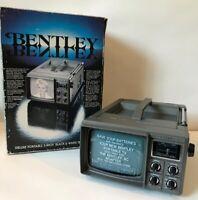 "VTG NEW Bentley Deluxe Portable 5"" Black & White TV Television B&W Battery Power"
