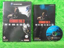 gamecube RESIDENT EVIL 3 NEMESIS A Survival Horror Game Nintendo PAL UK Version